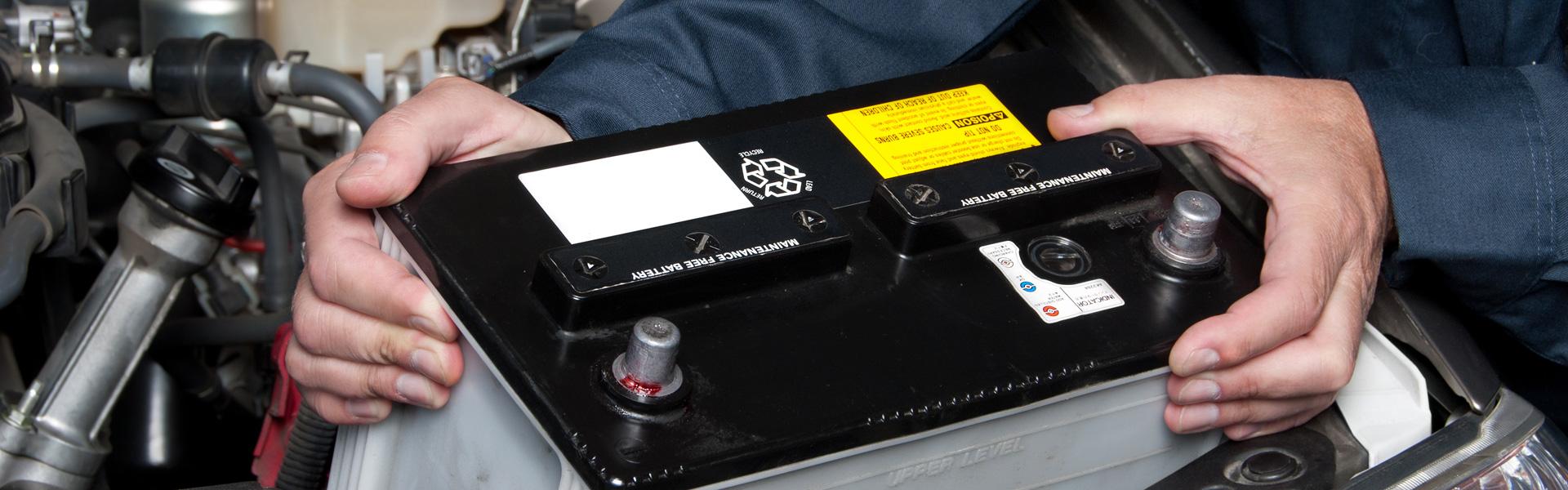 udskiftning af bil battery